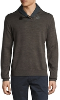 Toscano Toggle Shawl Collar Sweater
