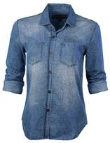 Vans Women's Rayna Woven Plaid Long Sleeve Button Down Shirt-Coral-XS