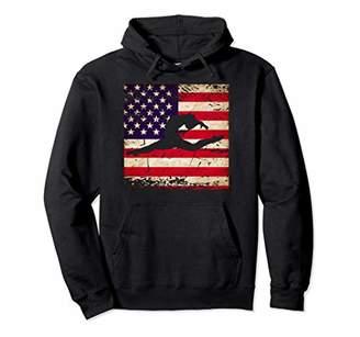 Ladies Gymnastics USA American Flag Pullover Hoodie