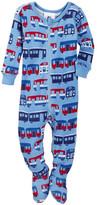 Tea Collection El Metro Footed Pajamas (Baby Boys)