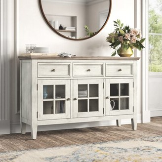 """Kelly Clarkson Home Marion 60"""" Wide 3 Drawer Sideboard"""