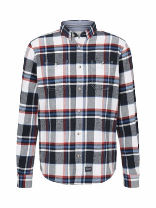 Tom Tailor Men's Casual Check 25310-Red Blue Shades