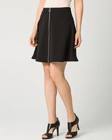 Le Château Crêpe Front-Zip Mini Skirt