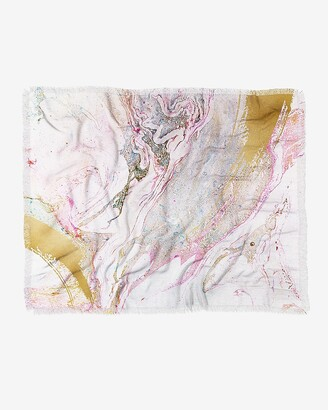 Express Deny Designs Winter Marble Throw Blanket