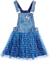 Hello Kitty Printed-Mesh Overall Dress, Toddler Girls