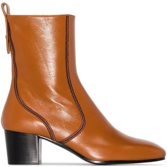 Chloé Goldee 50mm round-toe boots