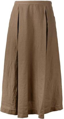 Aspesi High-Waisted Flared Skirt