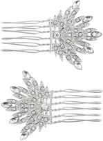 Accessorize 2x Crystal Fan Hair Combs