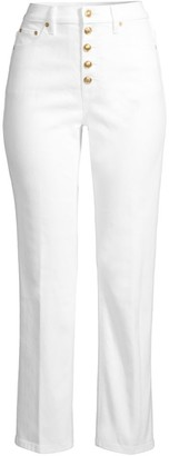 Tory Burch Button-Fly Denim Pants