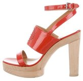 Hermes Patent Leather Platform Sandals
