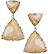 Kendra Scott Maury Statement Earrings in Brown Pearl