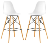 Modway Pyramid Dining Side Barstools (Set of 2)