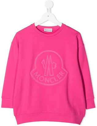 Moncler Enfant Logo Embroidered Sweatshirt