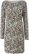 Oui Leopard print jumper dress