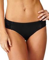Leilani Black Classics Shirred-Side Bikini Bottoms