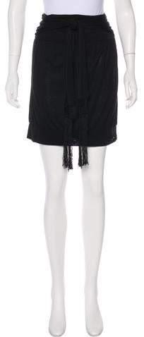 Accented Knee-Length Skirt