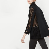Maje Coat with lace cut-outs