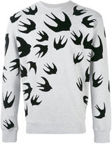 McQ by Alexander McQueen swallow print sweatshirt - men - Cotton/Polyester - XS