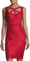 Jax Sleeveless Lace Sheath Dress, Red