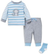 Little Me Infant Boys' Striped Monkey Tee, Joggers & Socks Set - Sizes 3-12 Months