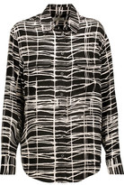 Equipment Signature Printed Washed-Silk Shirt
