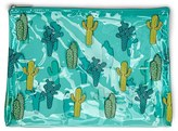 Forever 21 Cactus Print Makeup Pouch