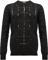 Saint Laurent ladder stitch jumper - men - Polyamide/Mohair/Wool - XS