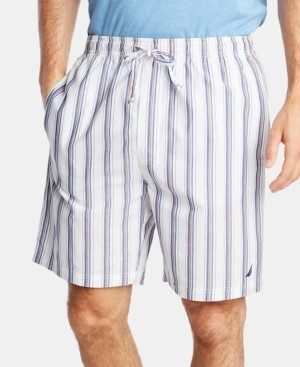 Nautica Men's Cotton Striped Pajama Shorts