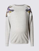 Marks and Spencer Maternity Embellished Sweatshirt