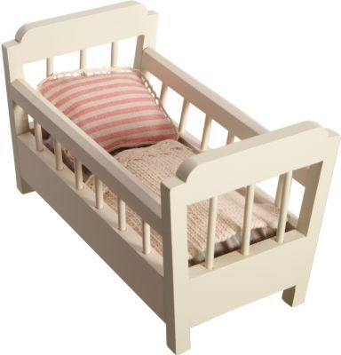 Maileg Wooden Newborn Cradle with Accessories