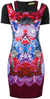 Versace printed fitted dress - women - Cotton/Polyester/Spandex/Elastane/Polyimide - 42