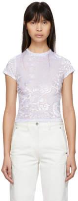 Eckhaus Latta Purple Ice Floral Burnout Shrunk T-Shirt