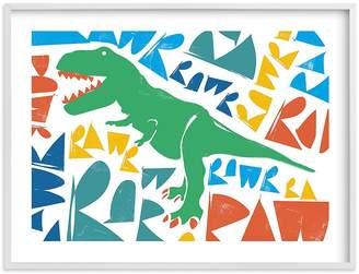 Pottery Barn Kids Trex RAWR! Wall Art by Minted®, 14x11, Black