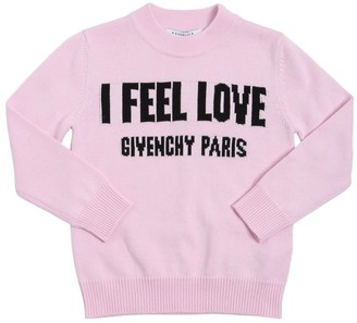 Givenchy COTTON & CASHMERE BLEND KNIT SWEATER