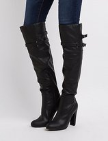 Charlotte Russe Belted Over-The-Knee Boots