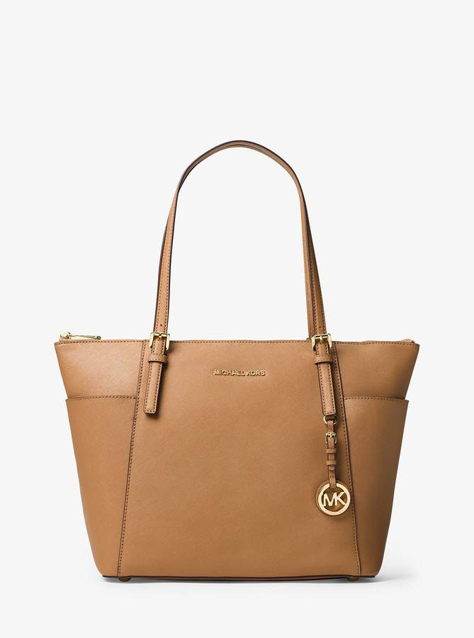 ebdda742a21954 Michael Kors Jet Set Top-zip Saffiano Leather Tote - ShopStyle