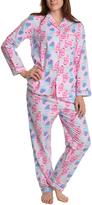 Angelina Pink Owl Flannel Pajama Set