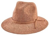 San Diego Hat Company Women's Knit Fedora with Braided Faux Suede Trim CTH8078