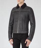 Reiss Reiss Phoenix - Shearling Jacket In Grey