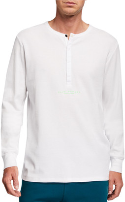 Scotch & Soda Men's Club Nomade Long-Sleeve Henley Shirt