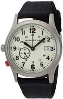 Momentum Men's Quartz Titanium and Canvas Dress Watch, Color:Black (Model: 1M-SP60L6B)