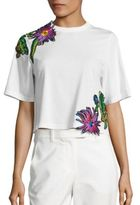 3.1 Phillip Lim Cotton Embroidered Applique Tee