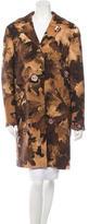 Moschino Printed Wool Knee-Length Coat