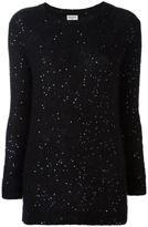 Saint Laurent sequin embellished sweater - women - Silk/Polyester/Mohair/Wool - XS