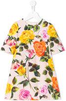 Dolce & Gabbana rose pint dress - kids - Viscose - 10 yrs