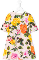 Dolce & Gabbana rose pint dress - kids - Viscose - 4 yrs