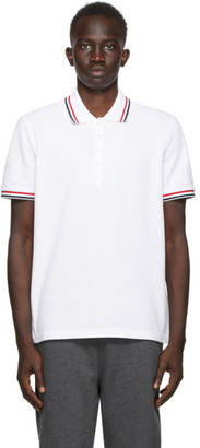 Thom Browne SSENSE Exclusive White Pique Classic Polo