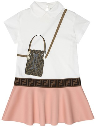 Fendi Printed cotton-blend dress