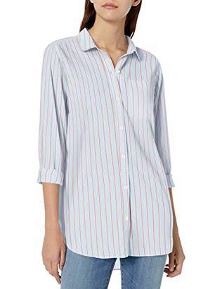 Goodthreads Lightweight Poplin Long-sleeve Boyfriend Shirt Button,Medium