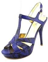 Thalia Sodi Raquell Open Toe Canvas Platform Sandal.